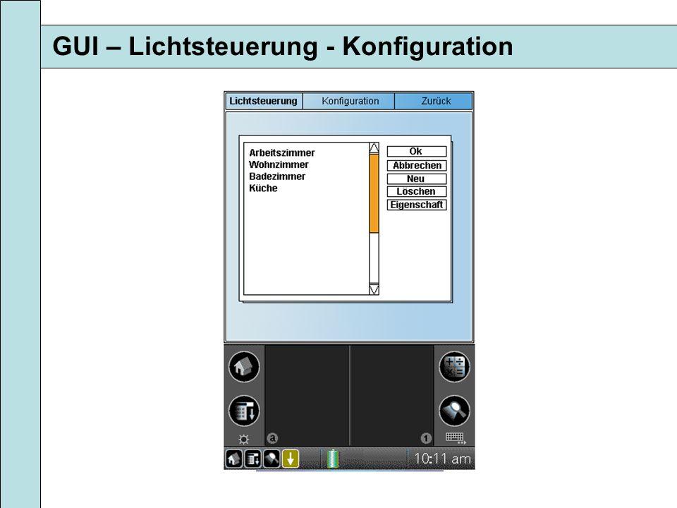 GUI – Lichtsteuerung - Konfiguration