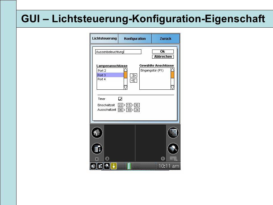GUI – Lichtsteuerung-Konfiguration-Eigenschaft