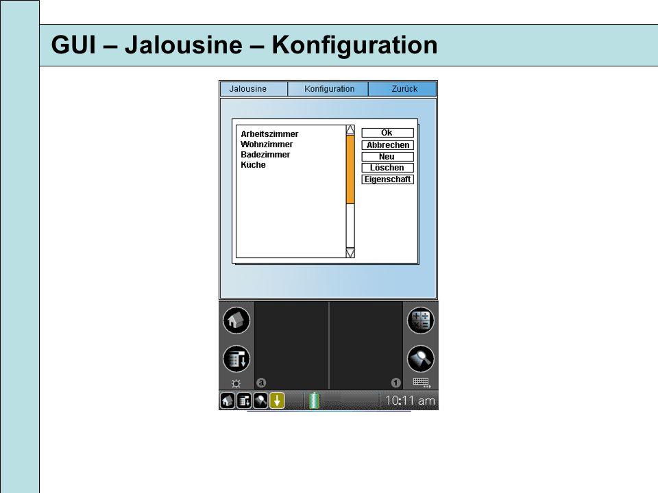 GUI – Jalousine – Konfiguration