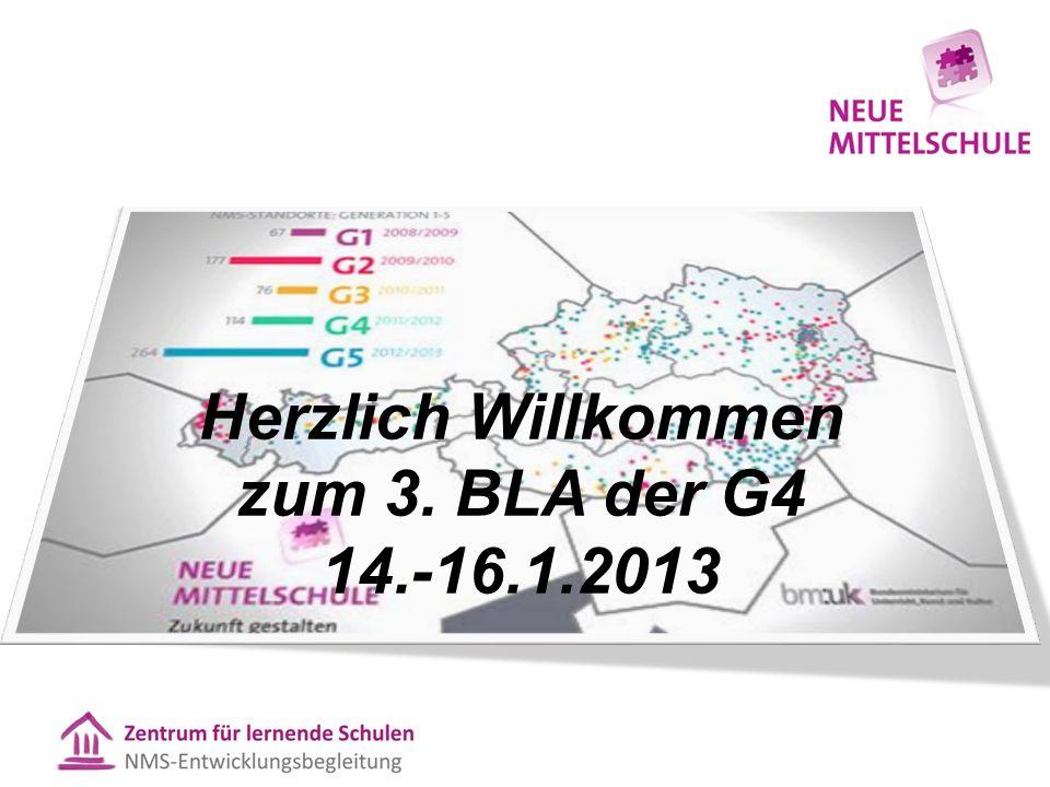 Herzlich Willkommen zum 3. BLA der G4 14.-16.1.2013