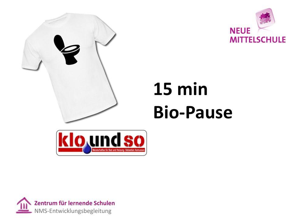 Danke! 15 min Bio-Pause