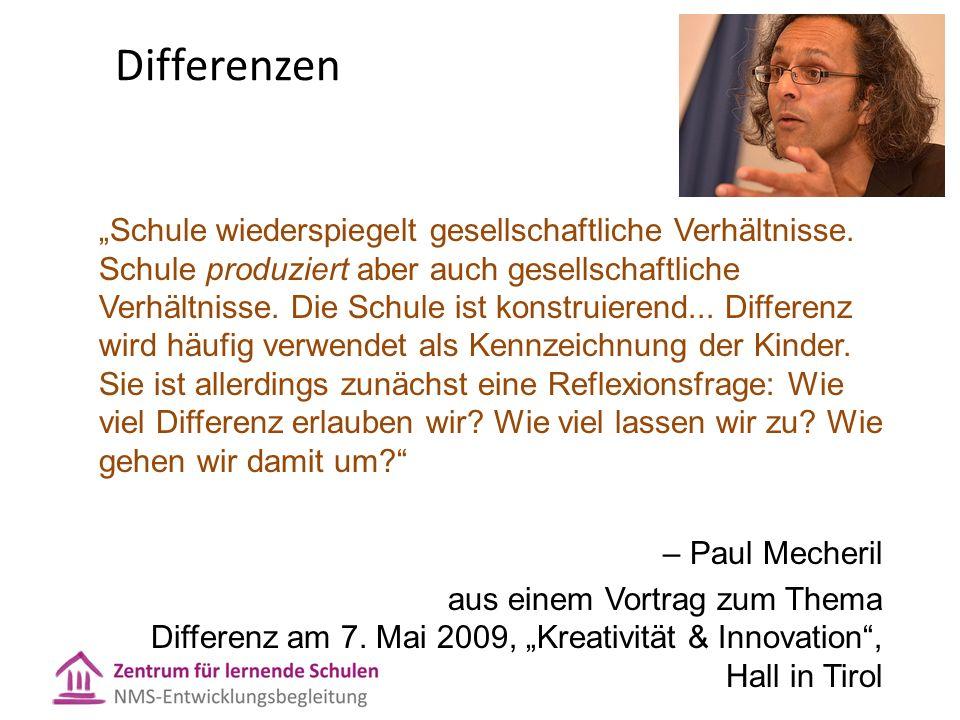 """Differenzen """"Schule wiederspiegelt gesellschaftliche Verhältnisse."""