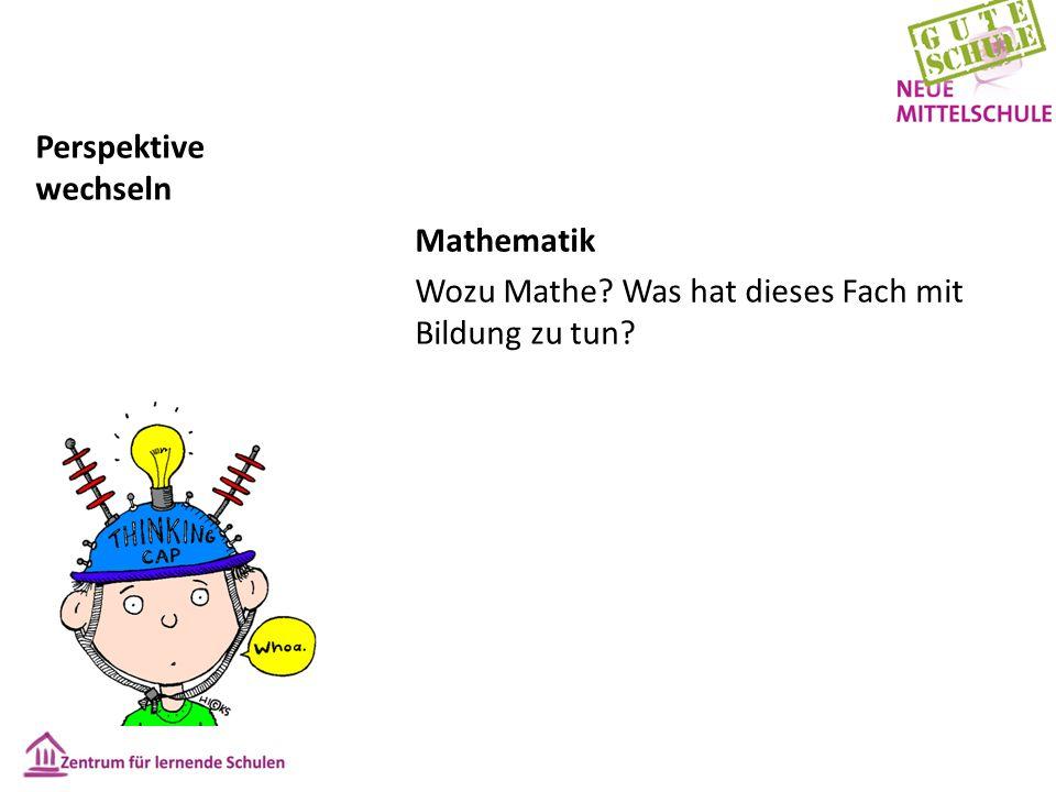 Perspektive wechseln Mathematik Wozu Mathe? Was hat dieses Fach mit Bildung zu tun?