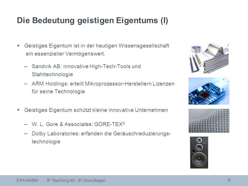  Geistiges Eigentum schützt kleine innovative Unternehmen –W.