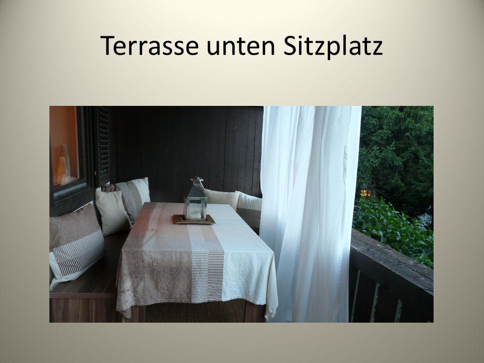 Terrasse unten Sitzplatz