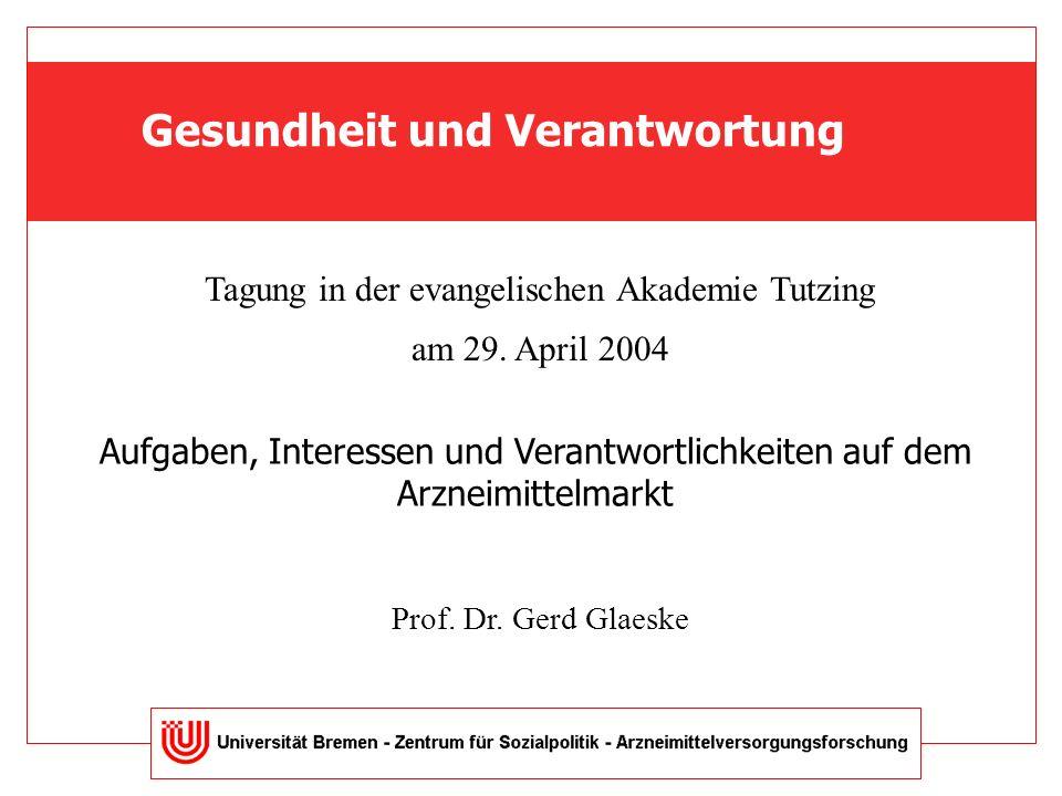 Gesundheit und Verantwortung Tagung in der evangelischen Akademie Tutzing am 29.