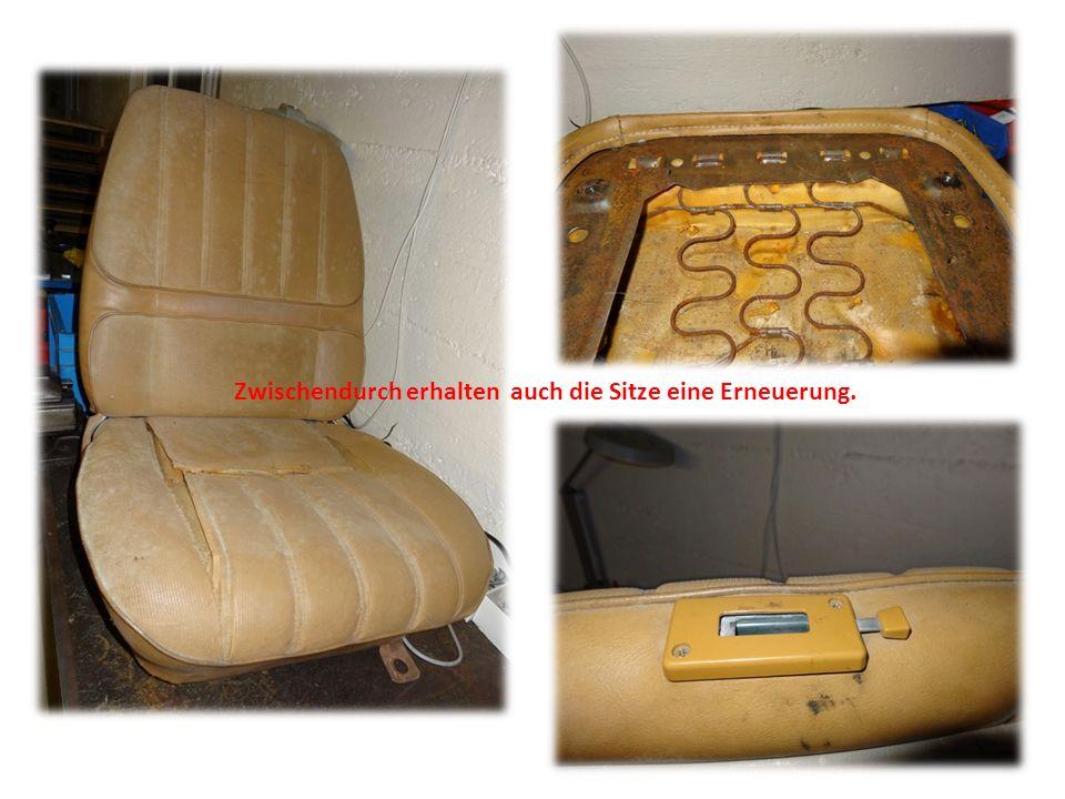 Zwischendurch erhalten auch die Sitze eine Erneuerung.