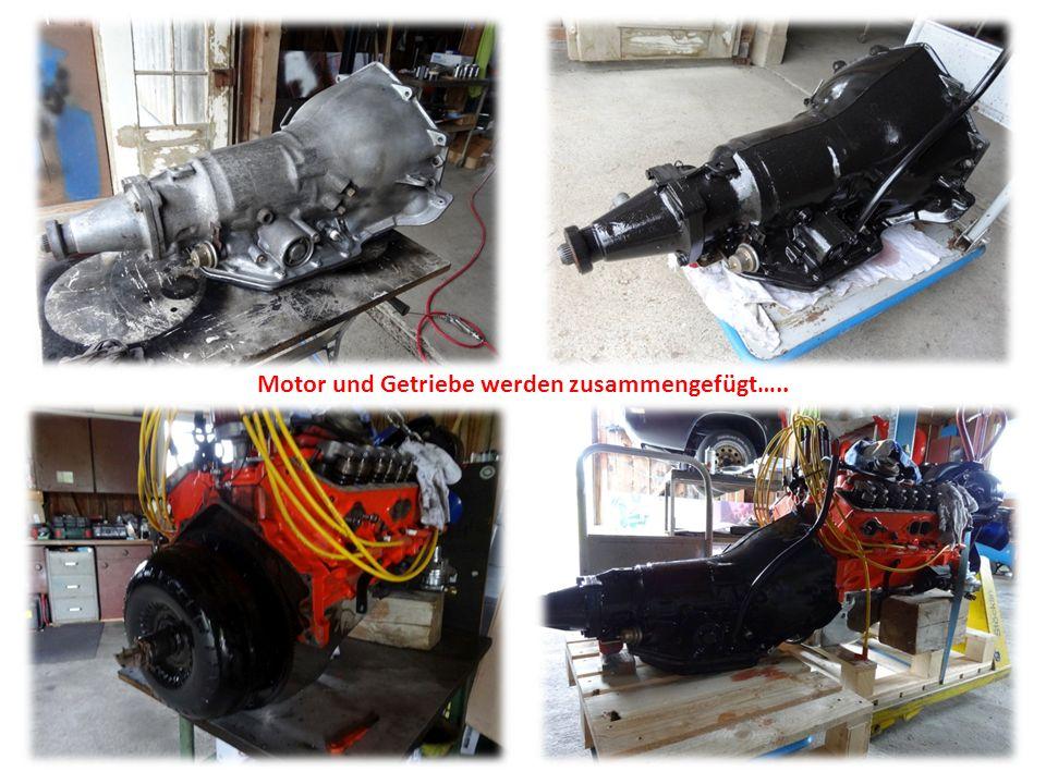 Motor und Getriebe werden zusammengefügt…..