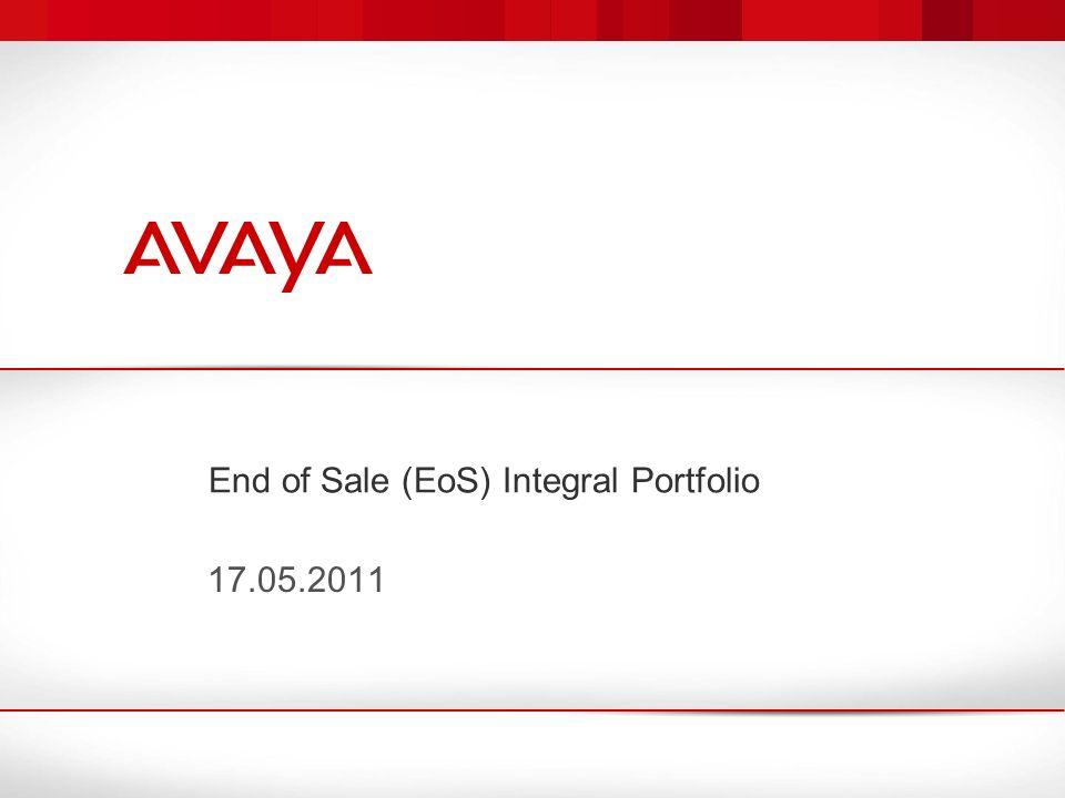 End of Sale (EoS) Integral Portfolio 17.05.2011