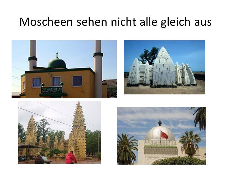 Moscheen sehen nicht alle gleich aus