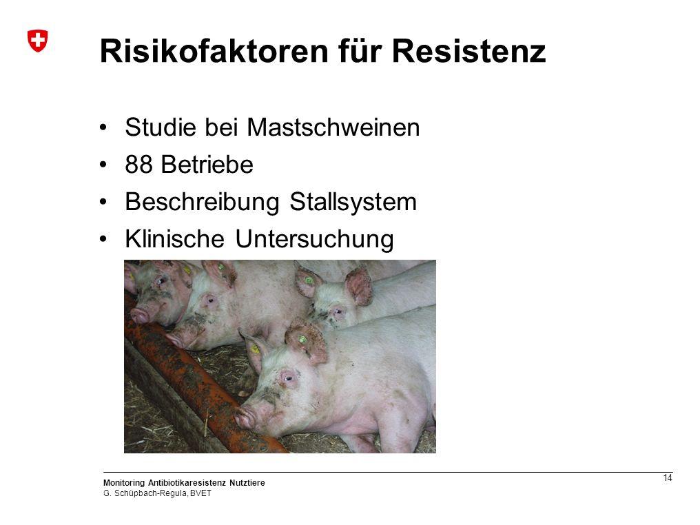 14 Monitoring Antibiotikaresistenz Nutztiere G.