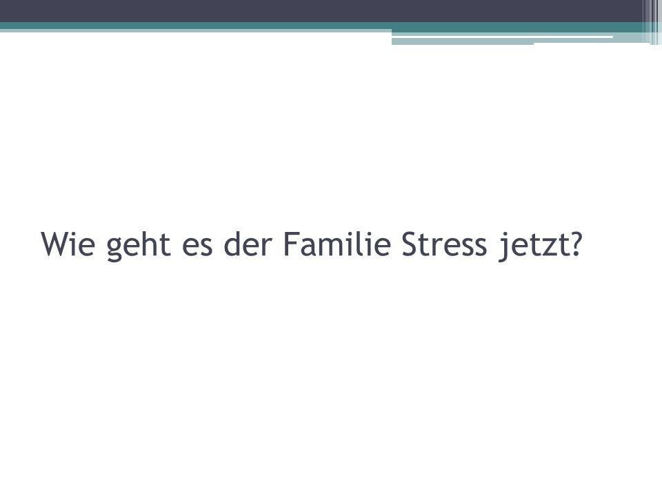 Wie geht es der Familie Stress jetzt