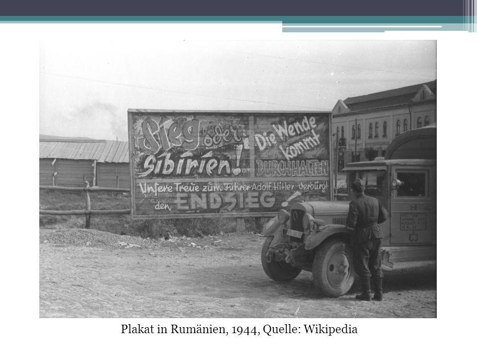 Plakat in Rumänien, 1944, Quelle: Wikipedia