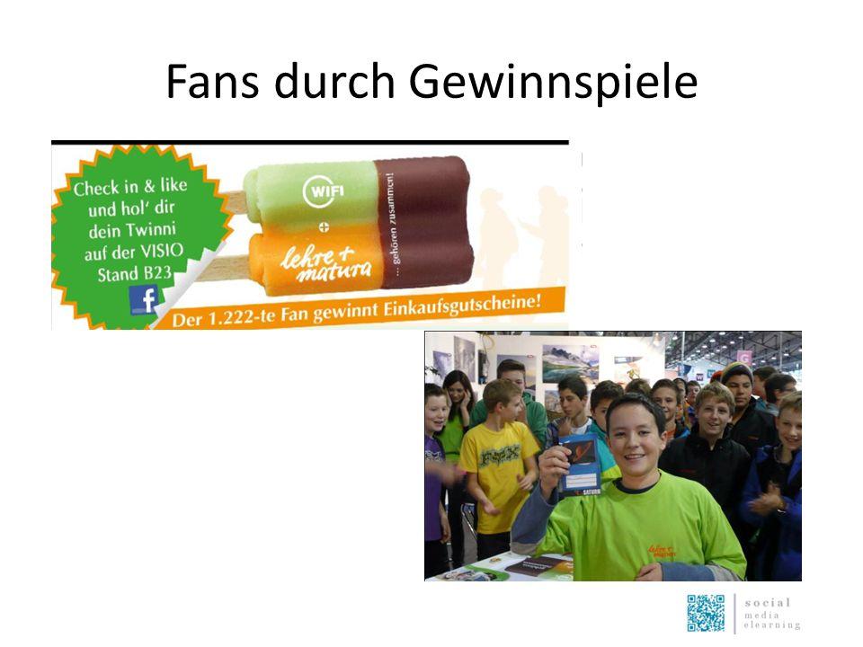 Fans durch Gewinnspiele