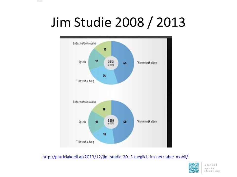 Jim Studie 2008 / 2013 http://patriciakoell.at/2013/12/jim-studie-2013-taeglich-im-netz-aber-mobil /