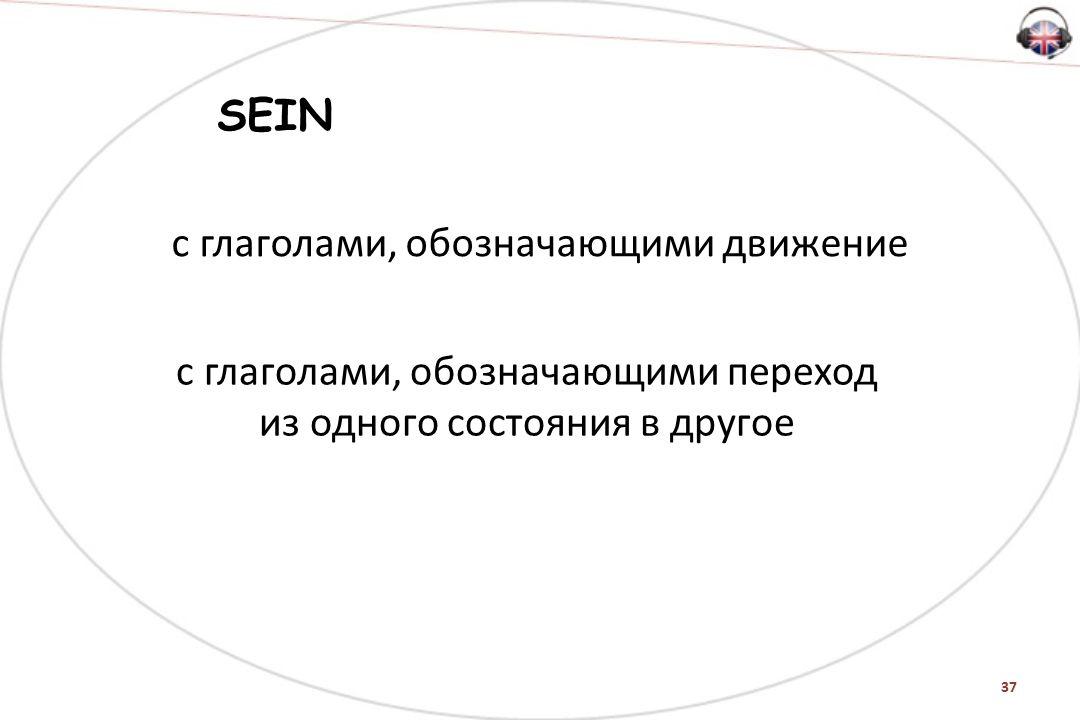 37 SEIN с глаголами, обозначающими движение с глаголами, обозначающими переход из одного состояния в другое