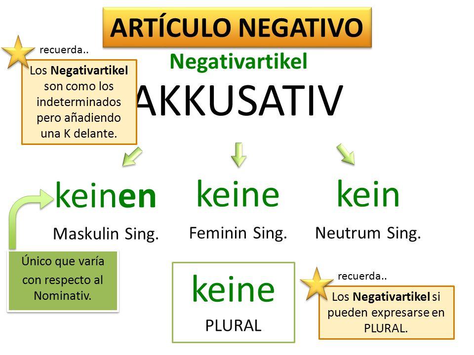 Maskulinum NOM der die das AKK den die das Femininum Neutrum PLURAL SINGULAR ARTÍCULO DETERMINADO die bestimmter Artikel En contexto...