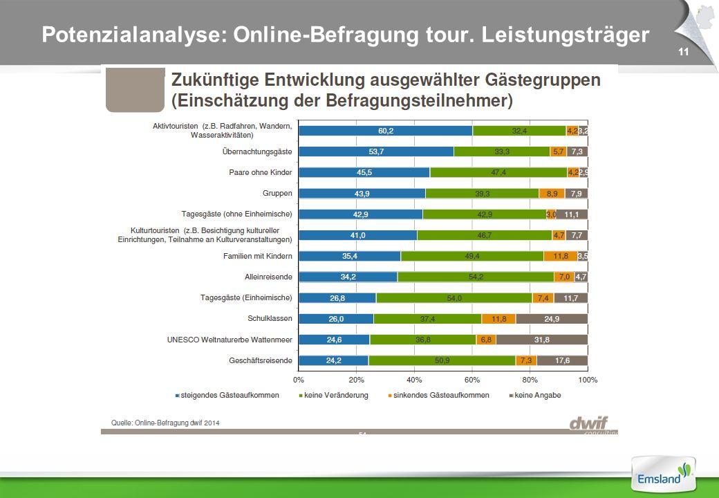 11 Potenzialanalyse: Online-Befragung tour. Leistungsträger