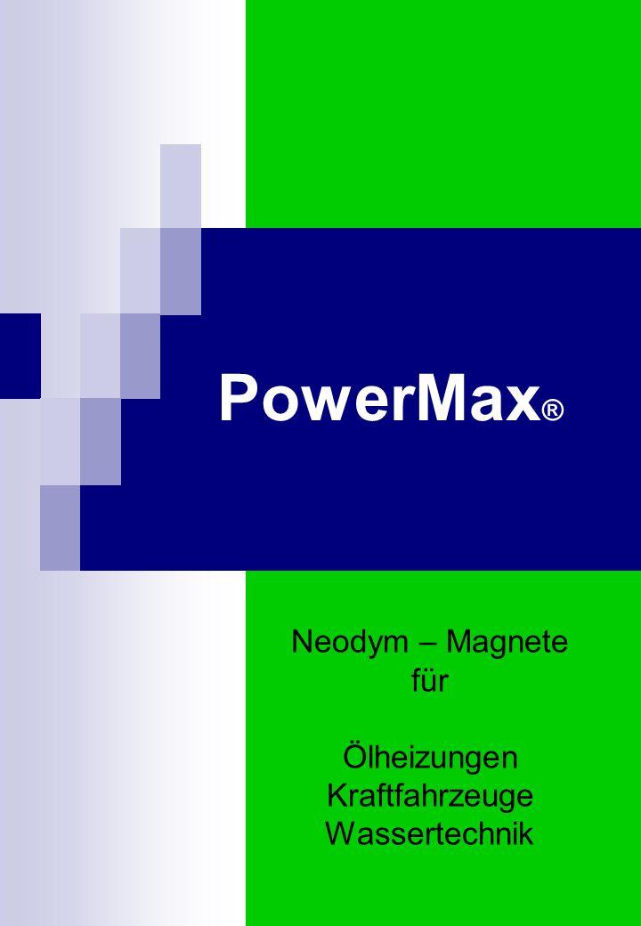 Neodymium-Magnete im PowerMax Die Stärke eines Magneten wird durch das Produkt aus Flussdichte und Feldstärke definiert.