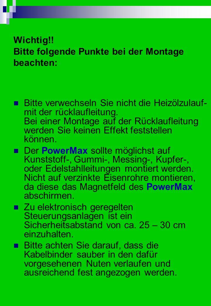 Montage in Hauswasseranlagen Die Montage des PowerMax in Ihre Hauswasseranlage ist sehr einfach und verläuft werkzeuglos.