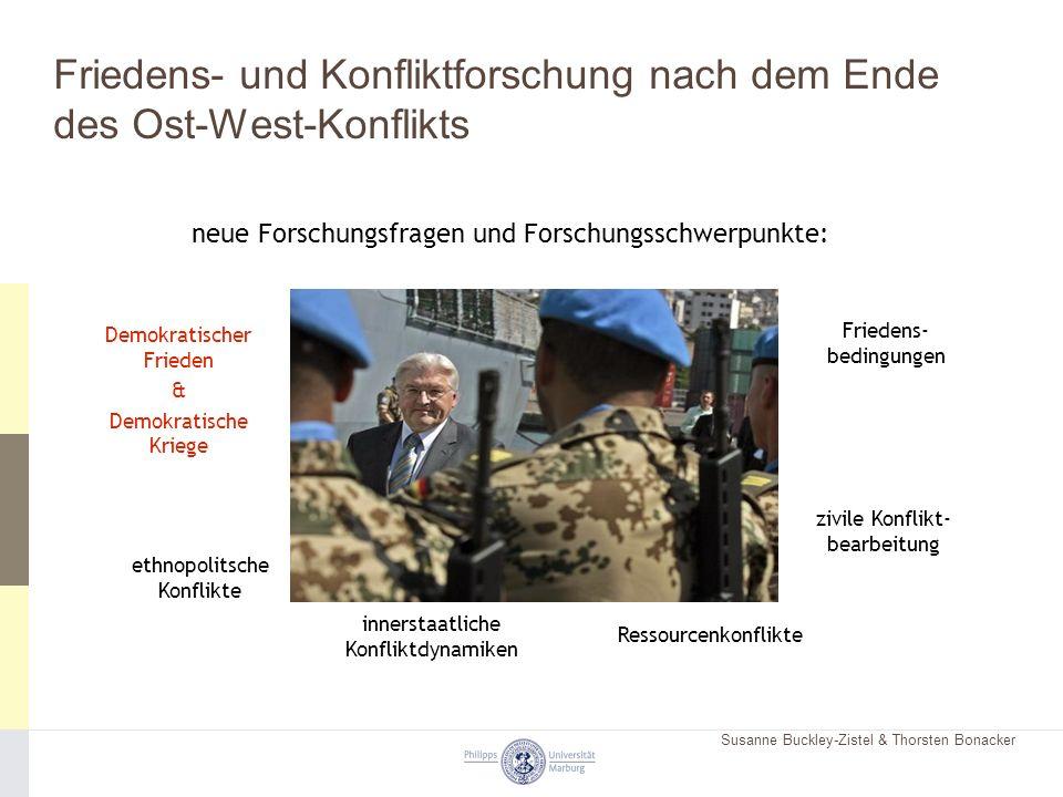 Susanne Buckley-Zistel & Thorsten Bonacker Friedens- und Konfliktforschung nach dem Ende des Ost-West-Konflikts neue Forschungsfragen und Forschungssc