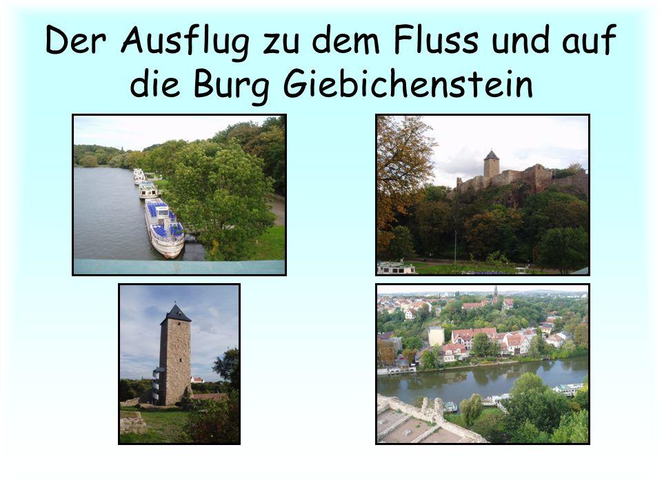 Der Ausflug zu dem Fluss und auf die Burg Giebichenstein