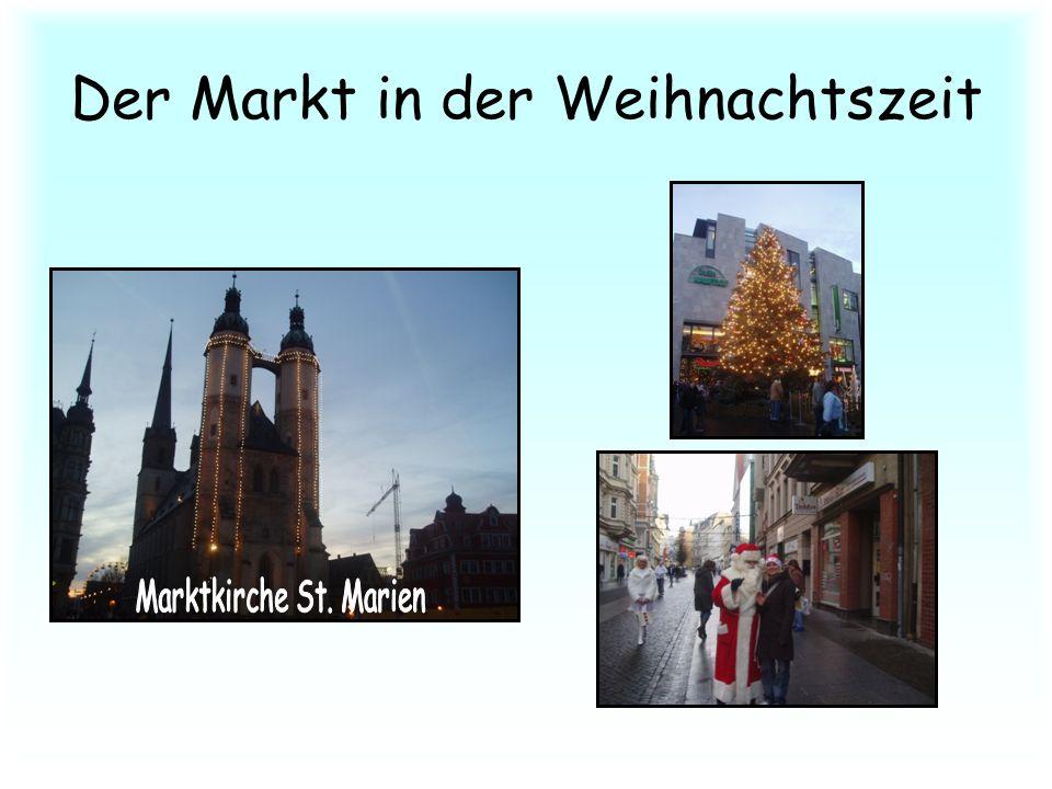 Der Markt in der Weihnachtszeit