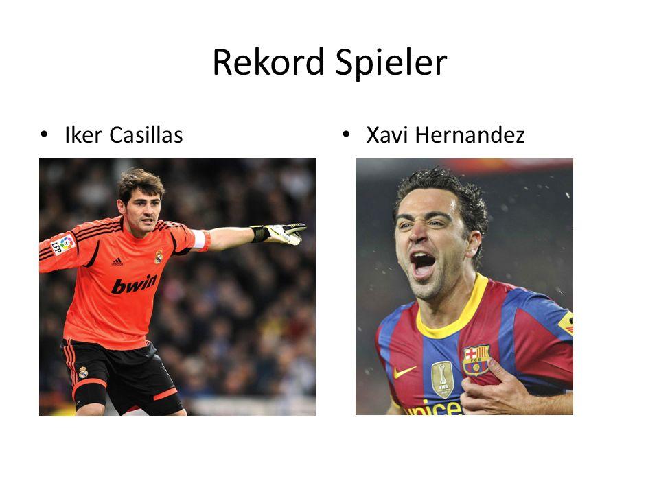 Rekord Spieler Iker Casillas Xavi Hernandez