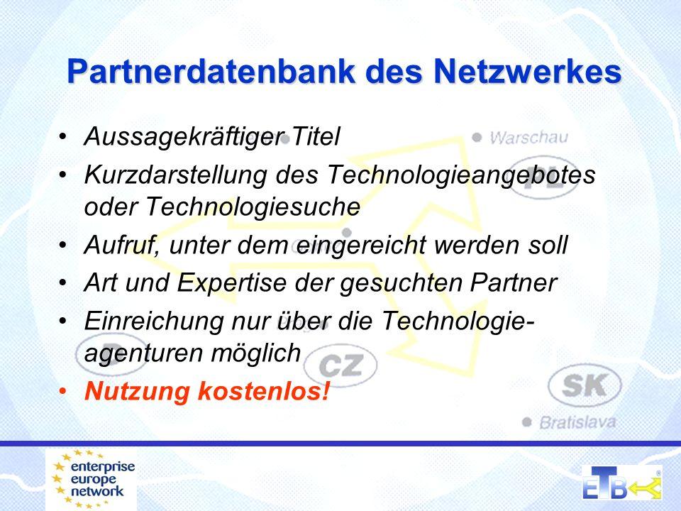 250 Technologieagenturen in Europa sehen........