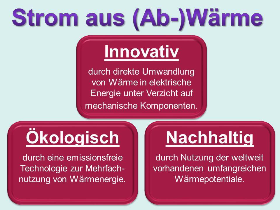 Ökologisch durch eine emissionsfreie Technologie zur Mehrfach- nutzung von Wärmenergie.