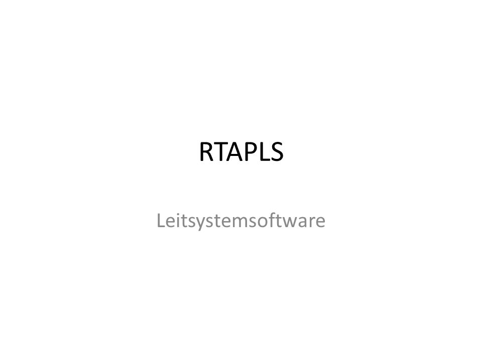 RTAPLS Leitsystemsoftware