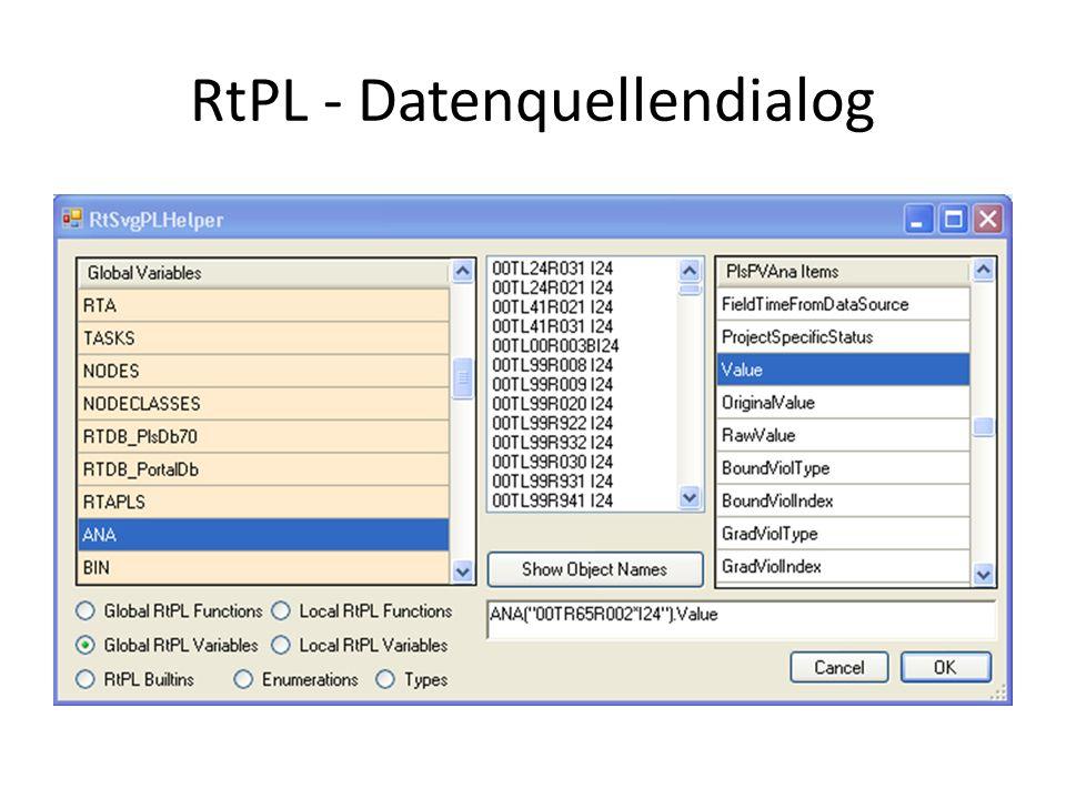 RtPL - Datenquellendialog