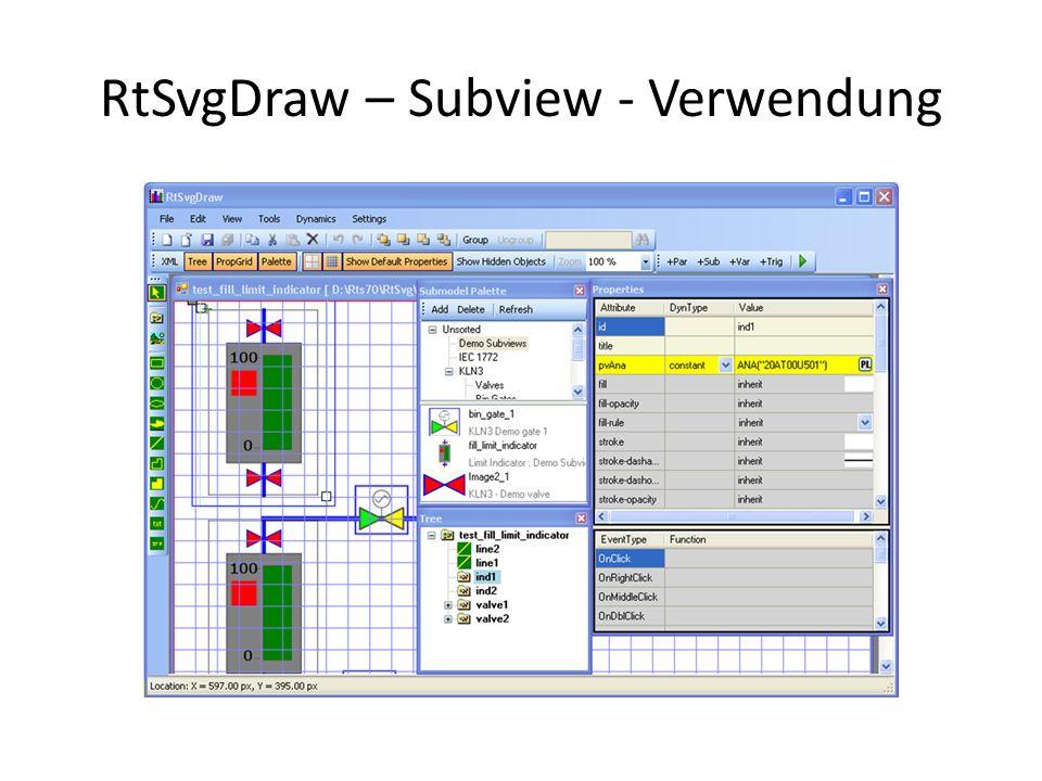 RtSvgDraw – Subview - Verwendung
