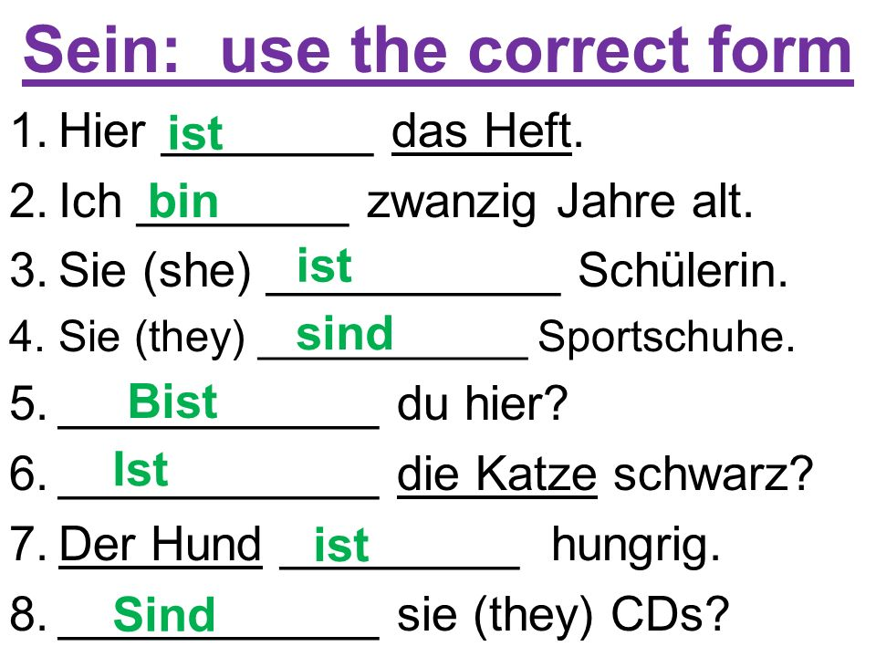 Sein: use the correct form 1.Mark ________ ein Junge.