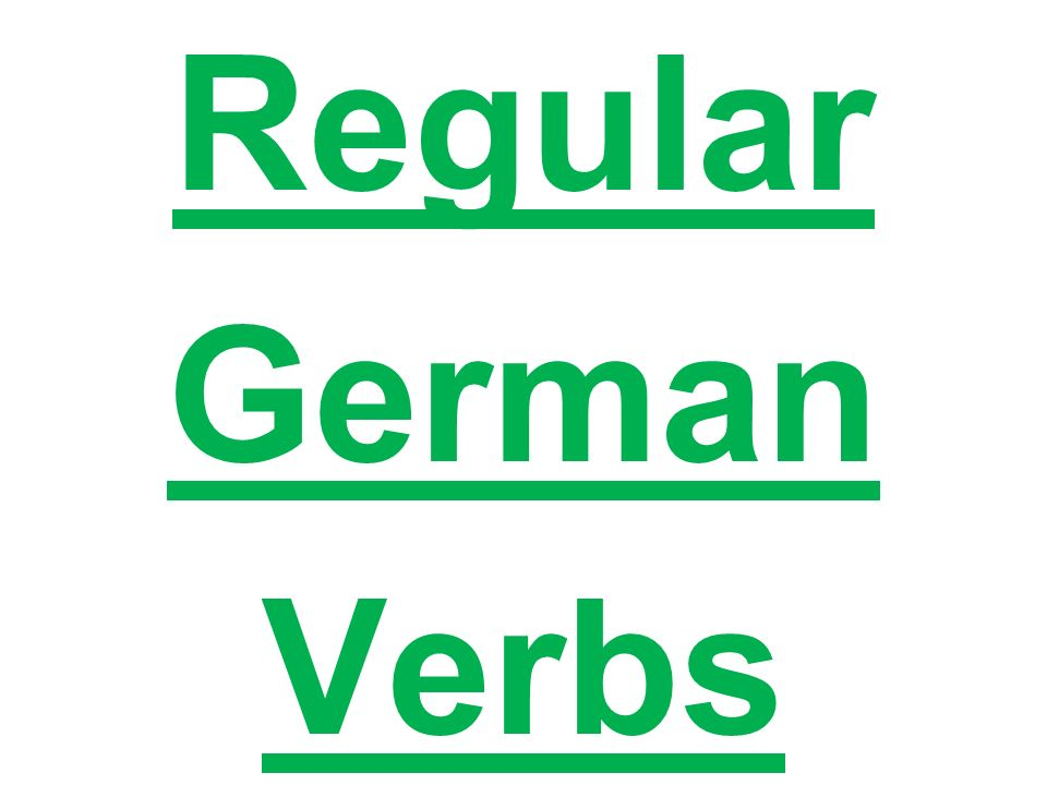 Regular Verb Endings Eww! Ich e du st He, she, it all drinks t ea