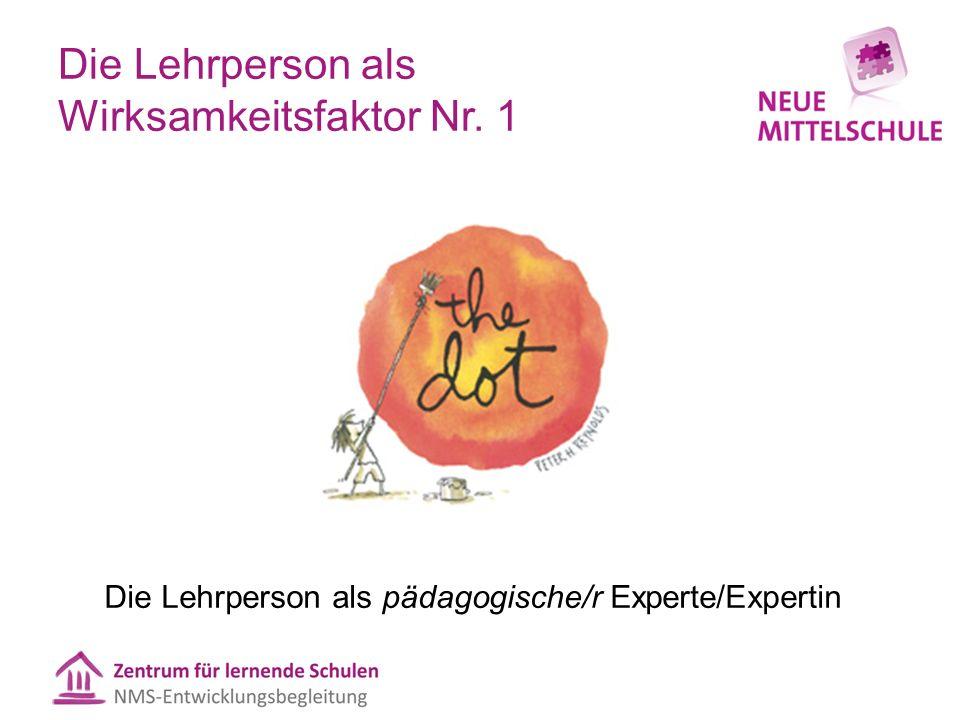 Die Lehrperson als Wirksamkeitsfaktor Nr. 1 Die Lehrperson als pädagogische/r Experte/Expertin