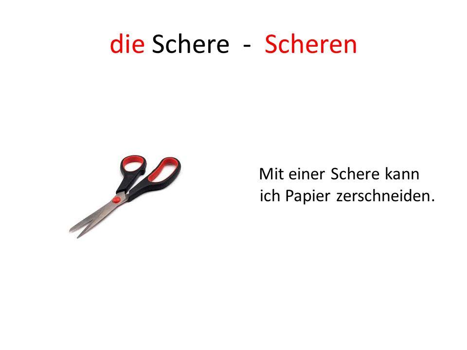 die Schere - Scheren Mit einer Schere kann ich Papier zerschneiden.