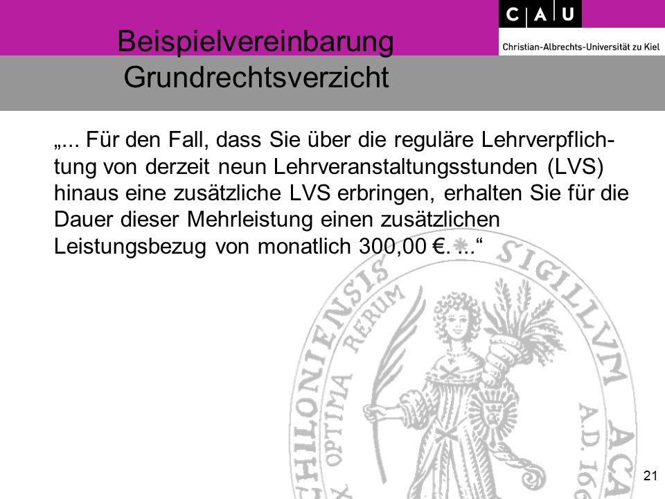 """Beispielvereinbarung Grundrechtsverzicht """"..."""