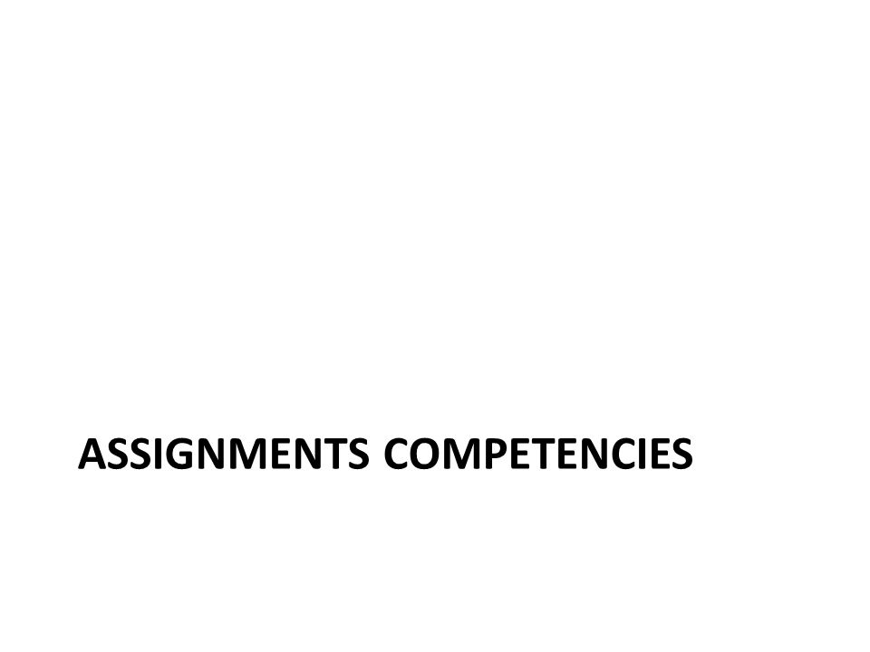 ASSIGNMENTS COMPETENCIES