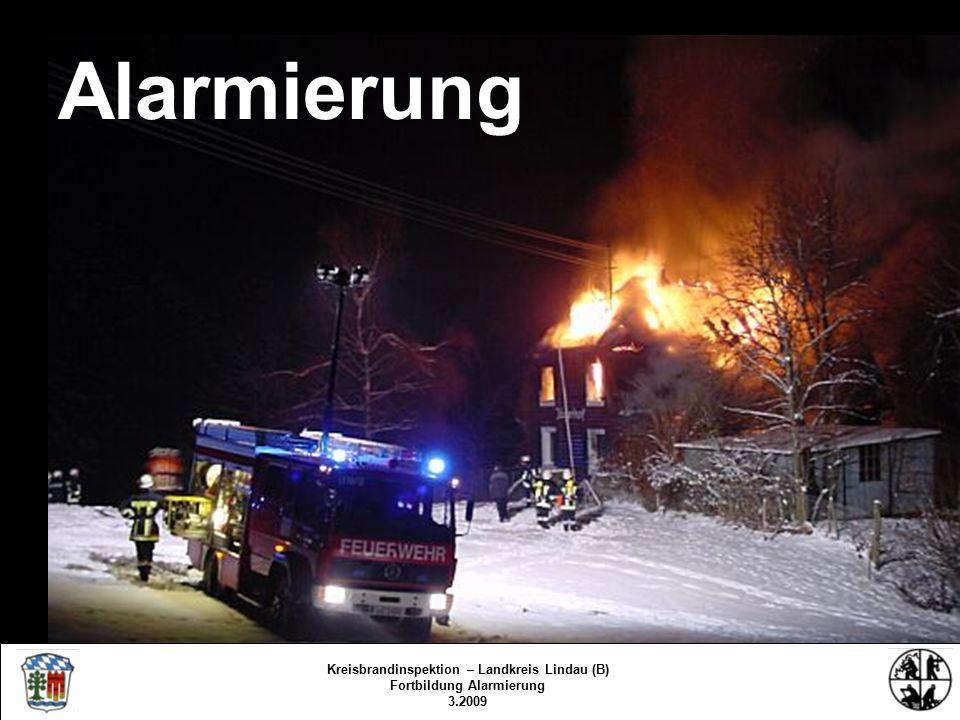 Geschichte Feuermeldestelle Glocken – Feuerhorn – Sirene Notrufsystem 73 Funk-Sirenen-Alarmierung Kreisbrandinspektion – Landkreis Lindau (B) Fortbildung Alarmierung 3.2009