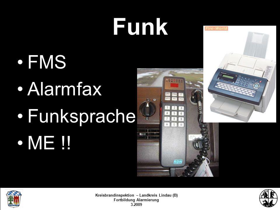 Funk FMS Alarmfax Funksprache ME !.
