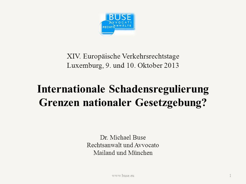 XIV. Europäische Verkehrsrechtstage Luxemburg, 9.