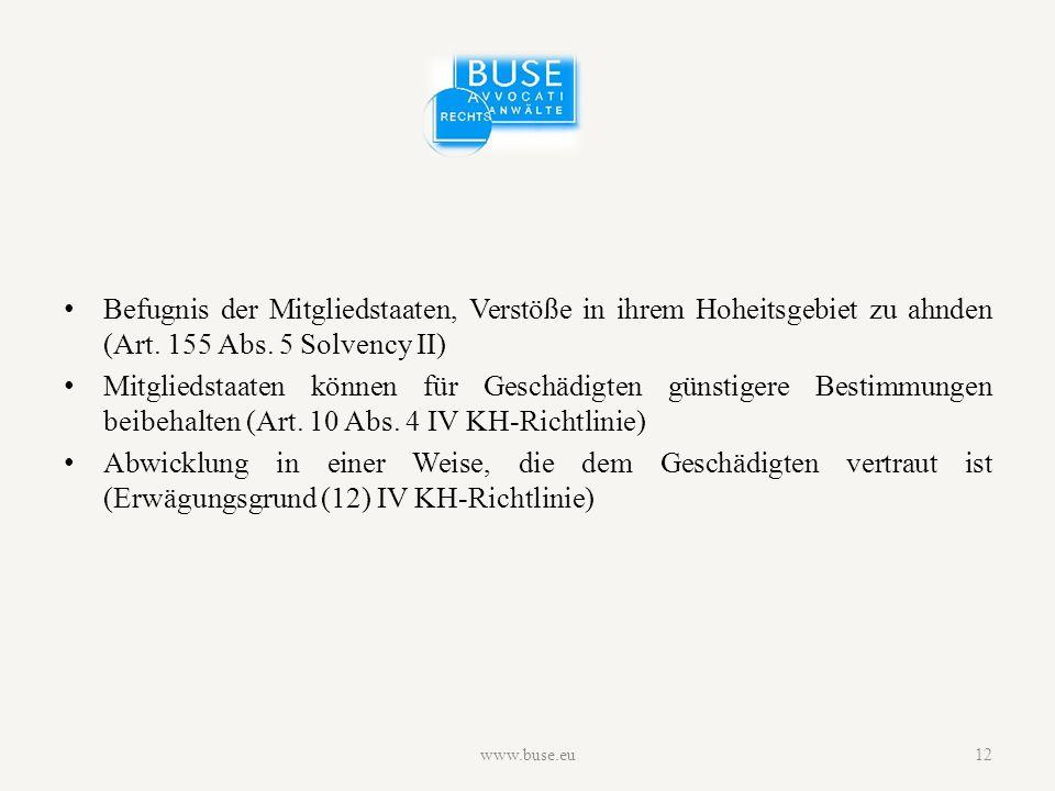 Befugnis der Mitgliedstaaten, Verstöße in ihrem Hoheitsgebiet zu ahnden (Art.