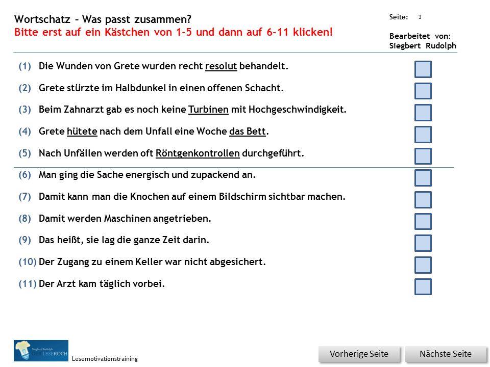 Übungsart: Seite: Bearbeitet von: Siegbert Rudolph Lesemotivationstraining 2 21 Rezept – Kopf hoch – bitte klicken.