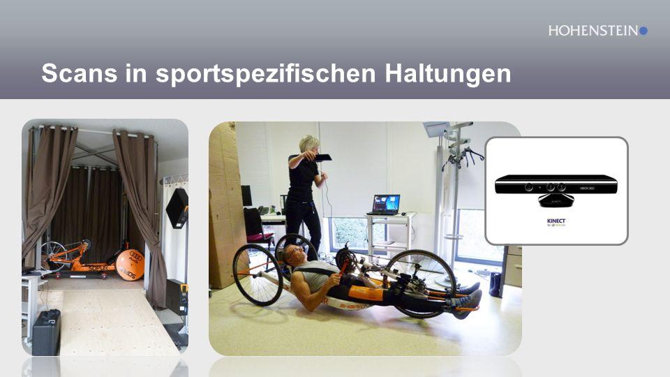 Scans in sportspezifischen Haltungen
