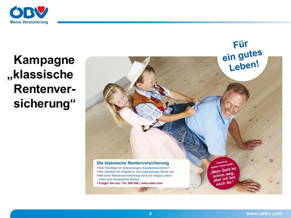 """8 Kampagne """"klassische Rentenver- sicherung"""