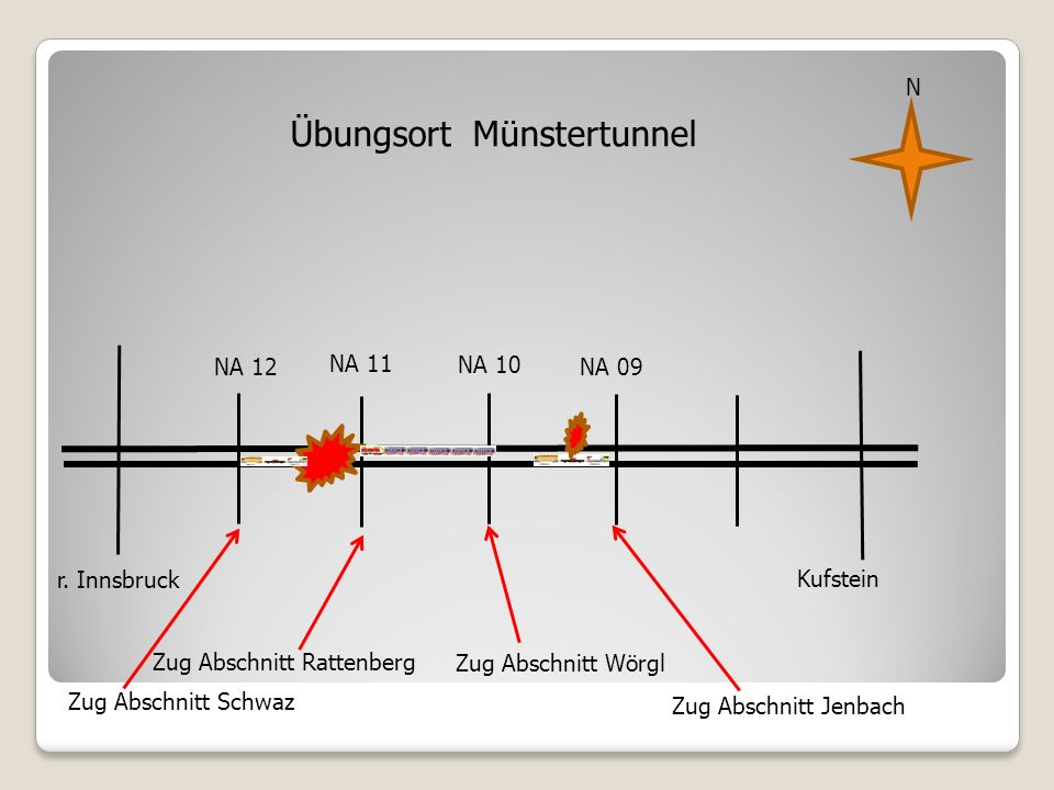 Übungsort Münstertunnel NA 11 NA 10 r.