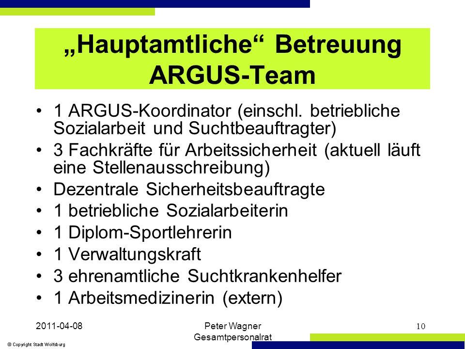 """2011-04-08Peter Wagner Gesamtpersonalrat 10 """"Hauptamtliche Betreuung ARGUS-Team 1 ARGUS-Koordinator (einschl."""
