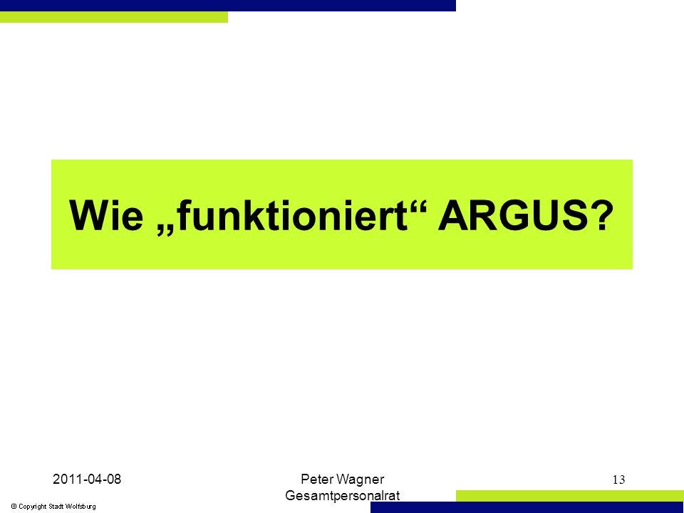 """2011-04-08Peter Wagner Gesamtpersonalrat 13 Wie """"funktioniert ARGUS?"""