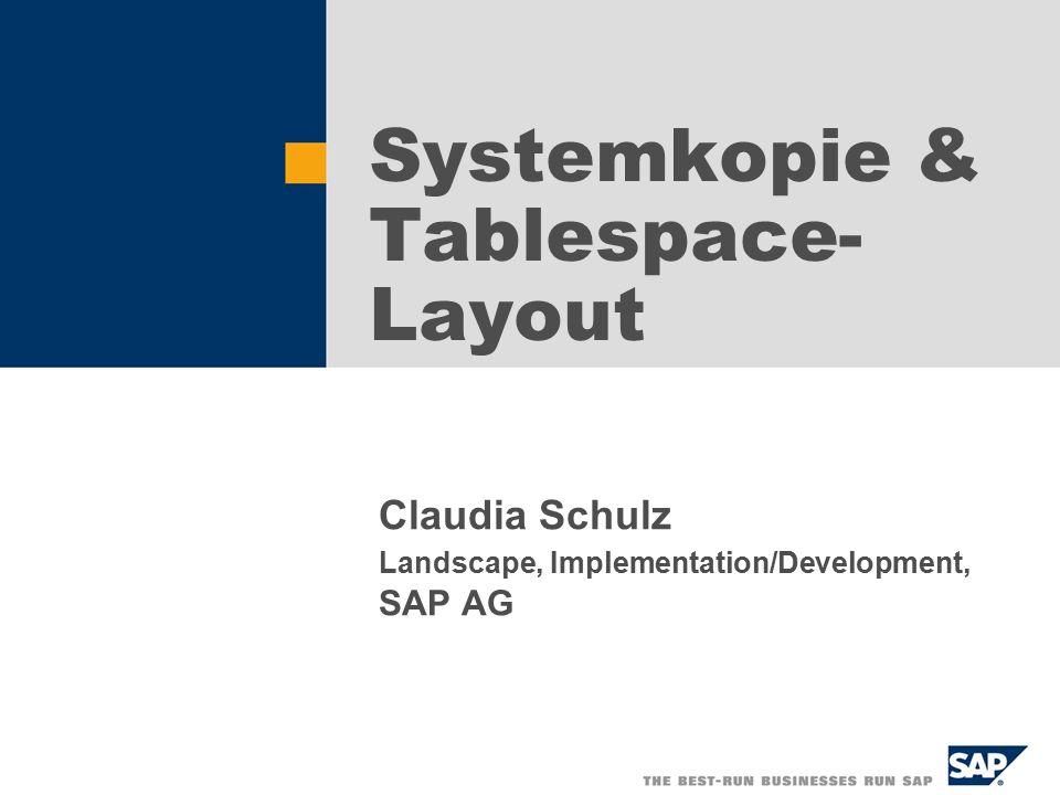   SAP AG 2002, Title of Presentation, Speaker Name 22 Lösungen 1.Es wird ein dritter Parameter SCHEMA-ID eingeführt.